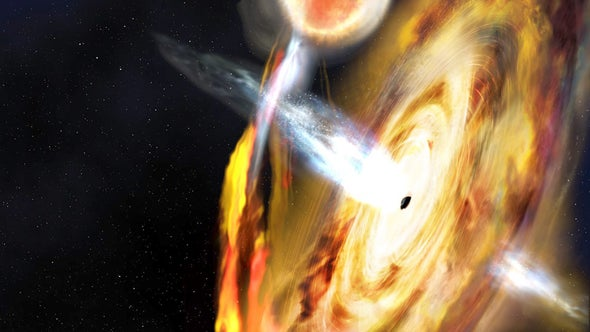 "Erupting Black Hole Shows Intriguing ""Light Echoes"""