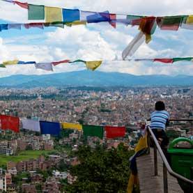 Kathmandu City View, Monkey Temple