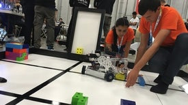 """""""Sustainable Robots"""" Face Off at the World Robotic Olympiad"""