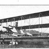 Giant bomber: the Italian Caproni Ca4, developed in 1917. Several were sent to the U.S. and the Royal Naval Air Service.