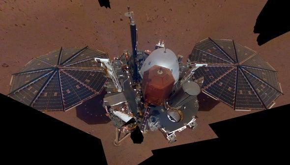 NASA's InSight Mars Lander Snaps Selfie, Surveys Workspace