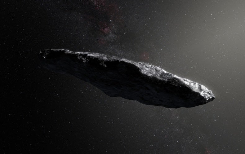 Cigar-shaped asteroid might be alien craft, researchers say