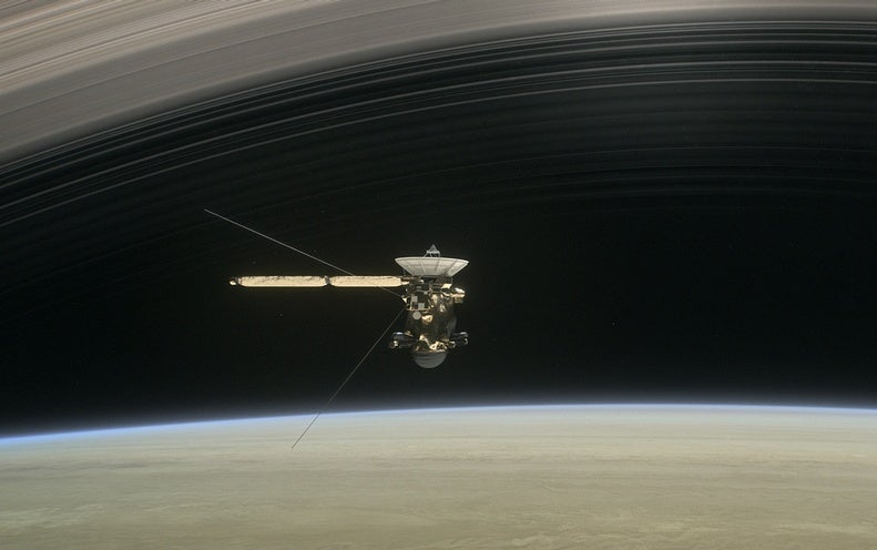 NASA's Cassini Mission Conducts Daring Dive through Saturn's Rings