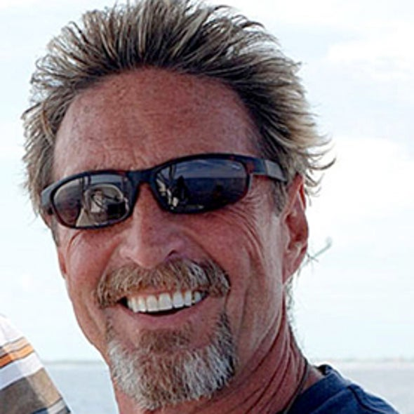 McAfee's Rookie Mistake Gives Away His Location