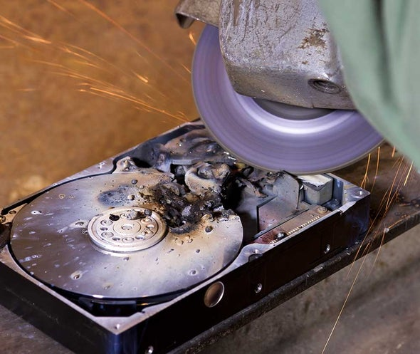 How to Destroy a Hard Drive--Permanently