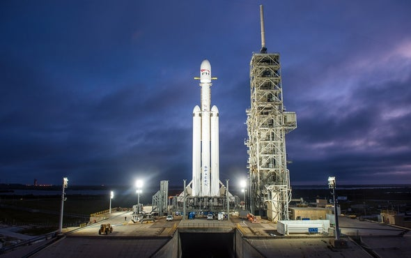 Watch Live as SpaceX's Falcon Heavy Rocket Launches Today