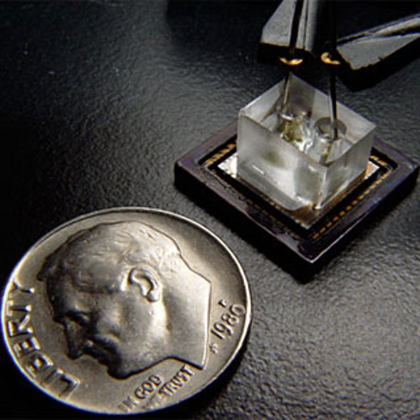 """Lensless On-Chip Microscope Inspired by """"Floaters"""" in the Eye"""