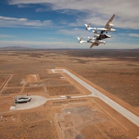 VSS Enterprise over New Mexico Spaceport