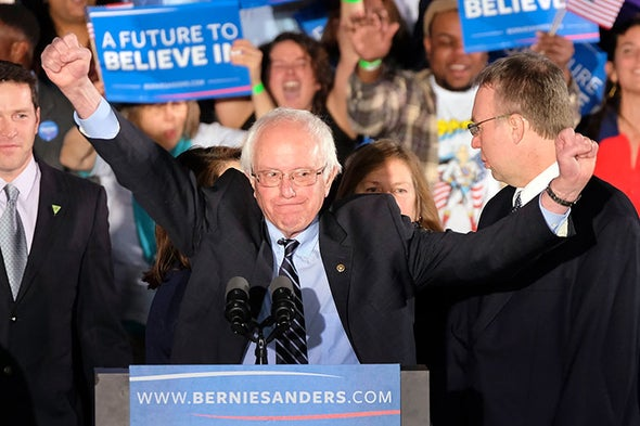 Bernie Sanders Singles Out Climate Change in Victory Speech