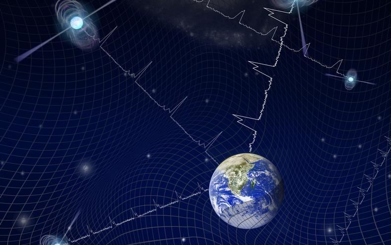 Galaxy-Size Gravitational-Wave Detector Hints at Exotic Physics