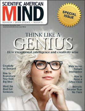 November/December 2012 Scientific American Mind