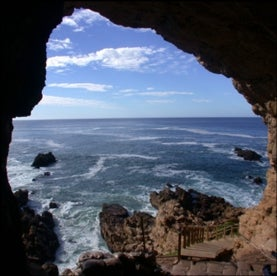 view from cave