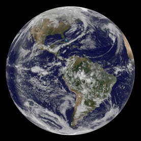 "Full Disk View Showing Earth on 3.14 - ""Pi Day"""