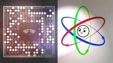 Epic Math Battles: Go versus Atoms
