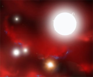 New Simulation Shows How Seeds of First Stars Formed