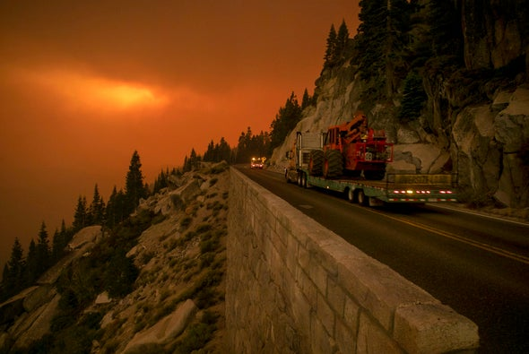 How Climate Change Helped Fires Cross the Sierra Nevada for the First Time