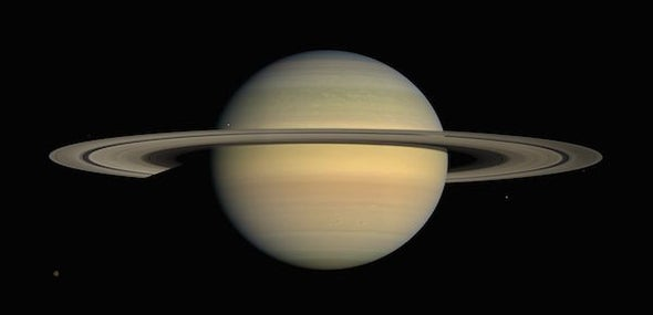 Saturn's Core Might Be Cloaked in a Neon Shield
