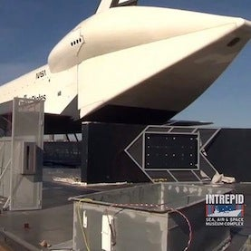 Intrepid Museum, Home of Shuttle Enterprise, Reopens after Hurricane Sandy Closure