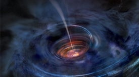 Supermassive Black Hole Belches X-Rays from Shredded Star