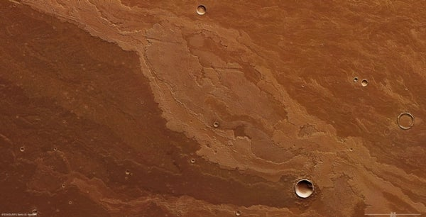 Lava plains bear marks of Mars's volcanic past