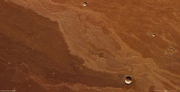 Lava plains bear marks of Mars's volcanic past