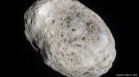 Cassini Spacecraft Sees Saturn's Moon Hyperion One Last Time