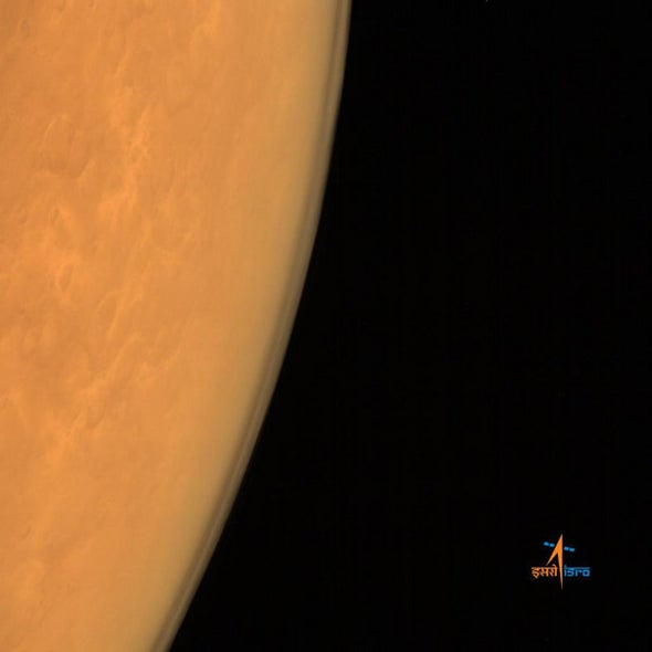 India's Mars Probe Sends Its First Images