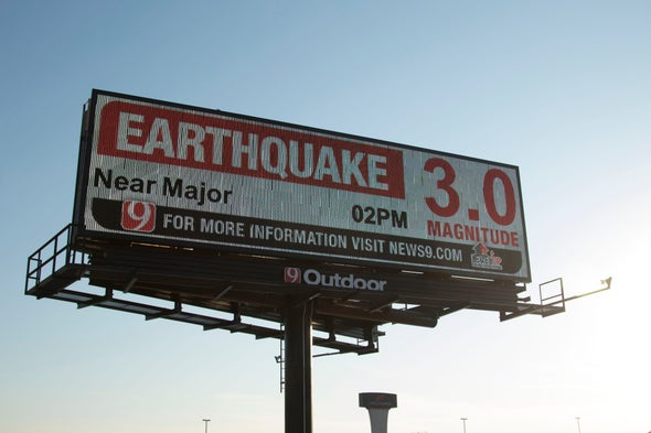 Magnitude 5.0 Earthquake Strikes Oklahoma