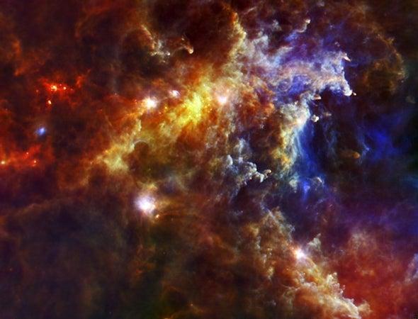 Herschel space observatory peers into stellar nursery