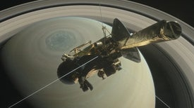 Before Its Death Dive, Cassini Caught Saturn Hissing at Its Rings