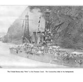 USS <em>Ohio</em> in the Panama Canal, 1915:
