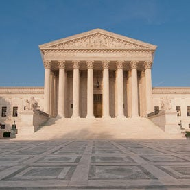 Supreme Court building in Washington, DC