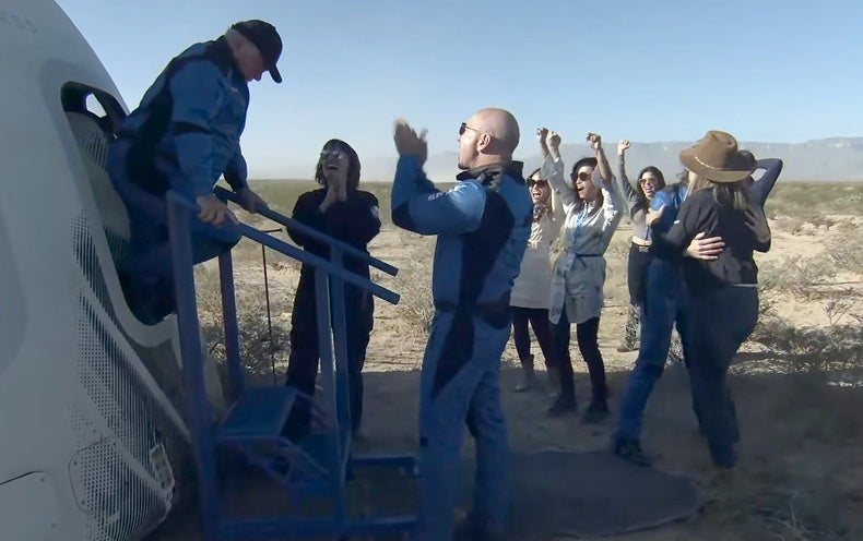 Blue Origin Launches William Shatner and Crew to the Final Frontier