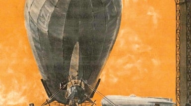 Spacecraft Moon Landing, 1966; Zeppelin Docking, 1916; Helicopter Failure, 1866