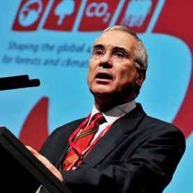 Nicholas Stern of the IPCC, speaking at the afternoon session on global views, at Forest Day, a parallel event during the United Nations climate Change conference (COP15), in Copenhagen, Denmark.