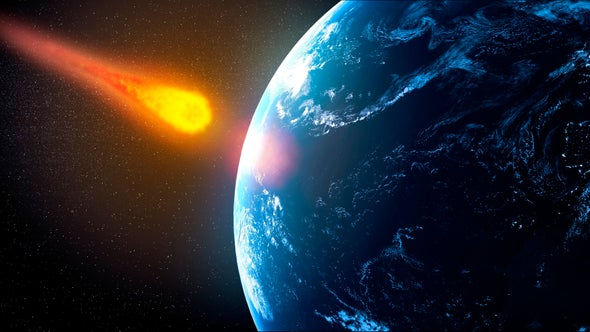 Could Asteroids Bombard the Earth to Cause a Mass Extinction in 10 Million Years?