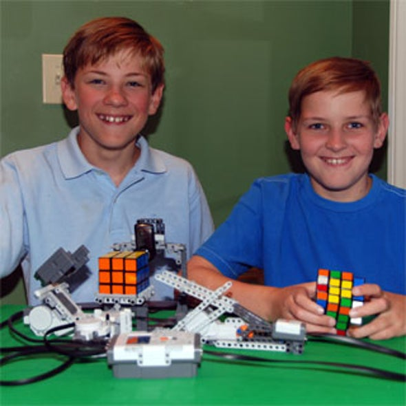 From a Pre-Teen Mind, a Robot That Solves Rubik's Cube