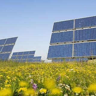 photograph of quartz sand solar energy grid deployment