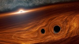 Astronomers May Have Glimpsed Light from Merging Black Holes