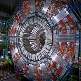 CMS experiment at the Large Hadron Collider in Europe