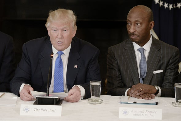 Merck CEO Resigns from Trump Council after Charlottesville