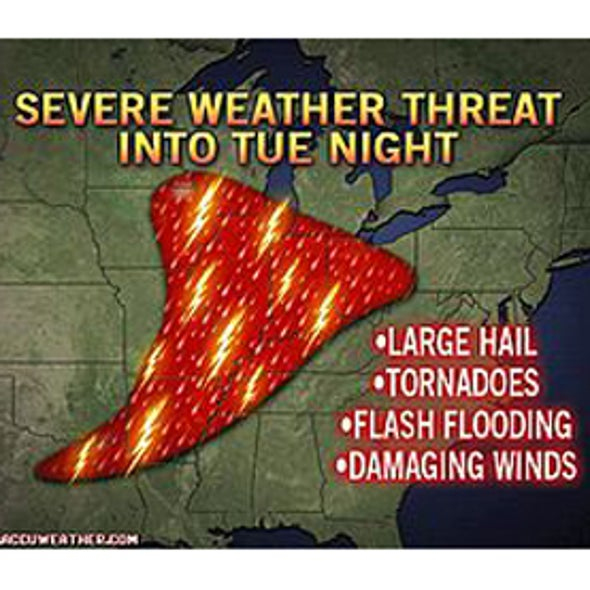 Severe Storms, Tornadoes Developing across Midwest