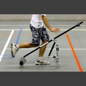 Experimental bicycle running stably on its own