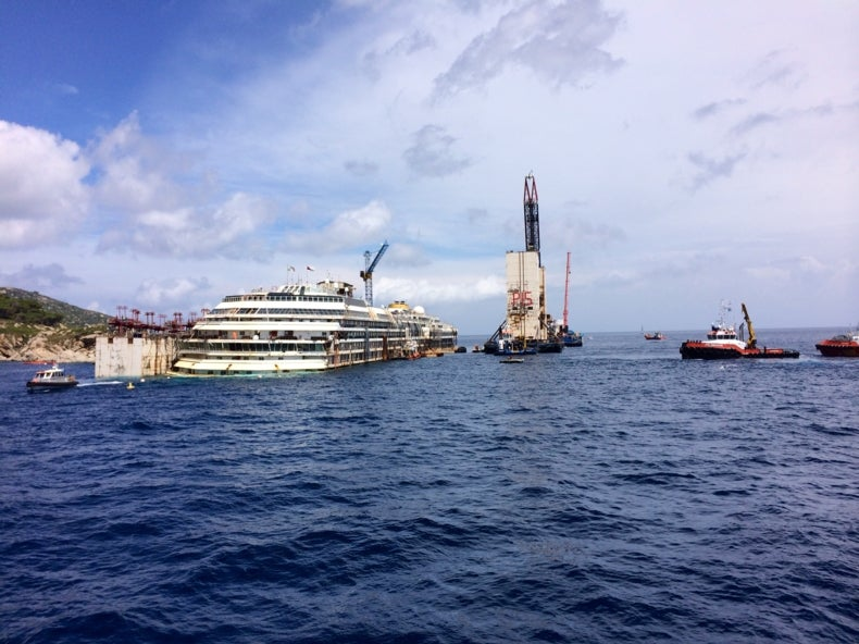 Capsized <i>Costa Concordia</i> Is Finally Set to Leave Its Watery Grave