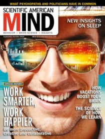 Scientific American Mind Volume 27, Issue 5