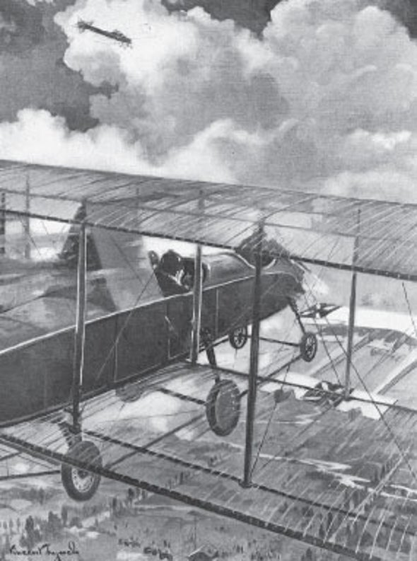 The Flight of the Invisible Airplane, 1915
