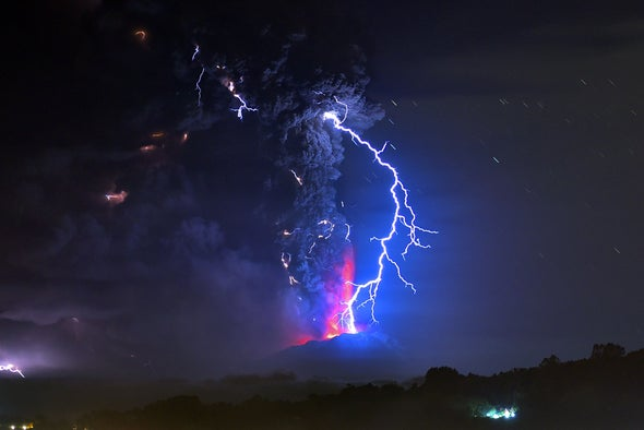 Glass Spheres Forged by Volcanic Lightning Offer Clues about Eruptions