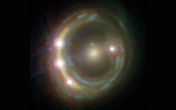 Cosmic Lenses Show Universe Expanding Surprisingly Fast