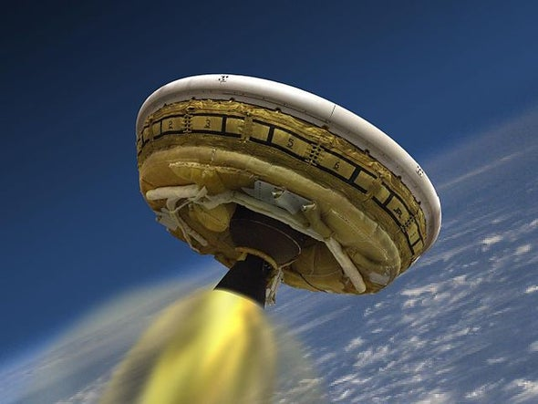 "NASA ""Flying Saucer"" Supersonic Parachute Fails Test [Video]"