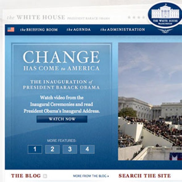 The Wired White House--A Pictorial Evolution of the POTUS Web Site [Slide Show]